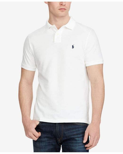 Polo Ralph Lauren - White Custom Slim-fit Mesh Polo Shirt for Men - Lyst