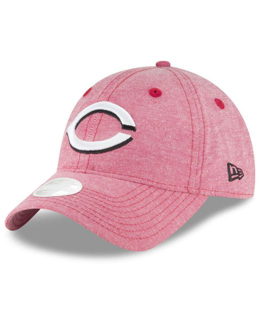 KTZ - Cincinnati Reds Team Linen 9twenty Strapback Cap for Men - Lyst ... 2b49a7abdfe8