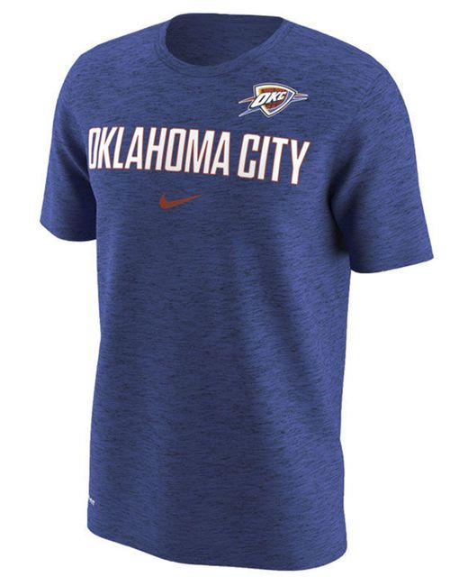 edeeedeed04 Nike - Blue Oklahoma City Thunder Essential Facility T-shirt for Men - Lyst  ...