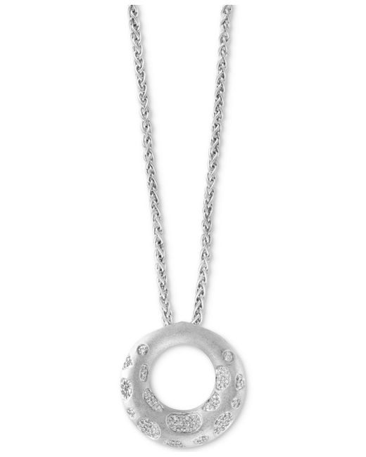 Effy Collection - Metallic Diamond Circle Pendant Necklace (1/3 Ct. T.w.) In Sterling Silver - Lyst