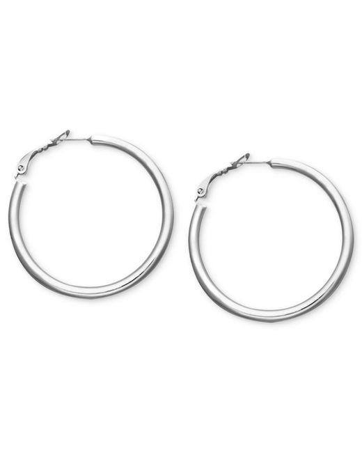 Giani Bernini - Metallic Sterling Silver Earrings, Tube Hoop Earrings - Lyst