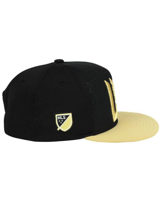 low priced 9218b 43ae1 ... new zealand low cost adidas black los angeles football club authentic  snapback cap for men lyst