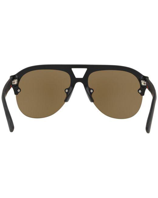 6130fb523d ... Gucci - Multicolor 0170 s Aviator Sunglasses for Men - Lyst ...