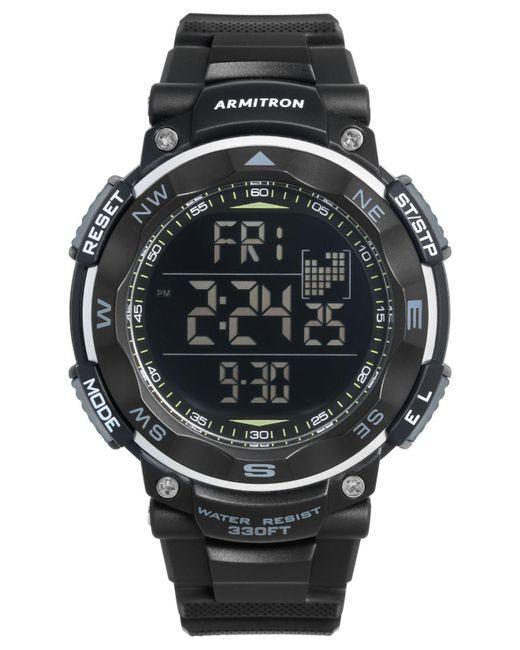 Armitron - Men's Digital Black Silicone Strap Watch 51mm 40-8254blk for Men - Lyst