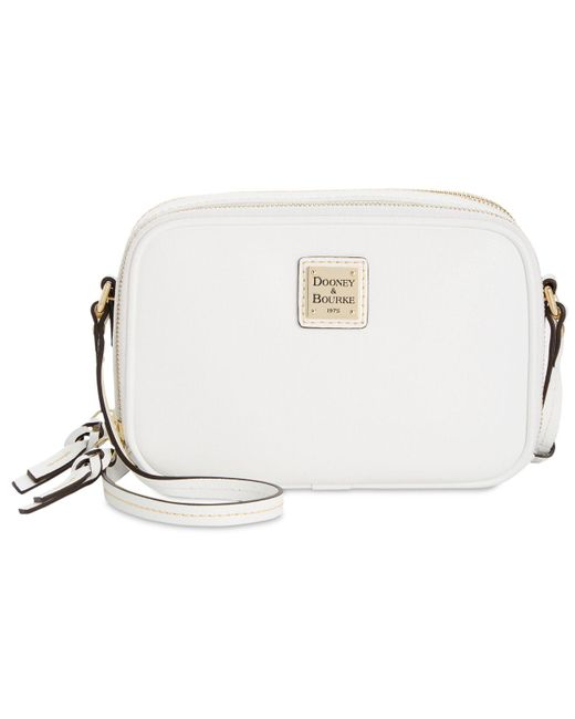 Dooney & Bourke - White Saffiano Leather Sawyer Crossbody - Lyst