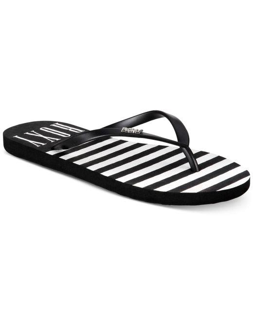 Roxy - Black Viva Stamp Ll Flip-flop Sandals - Lyst