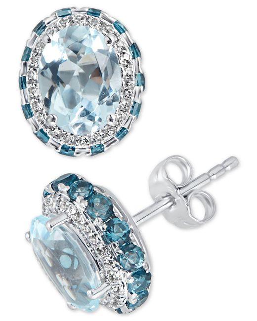 Macy's - Blue Topaz (4-1/2 Ct. T.w.) & White Topaz (1/4 Ct. T.w.) Earrings In Sterling Silver (also Available In Amethyst) - Lyst