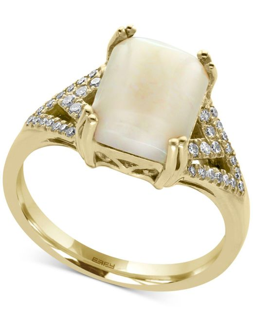Effy Collection   Metallic Opal (2 Ct. T.w.) And Diamond (1/6 Ct. T.w.) Ring In 14k Gold   Lyst