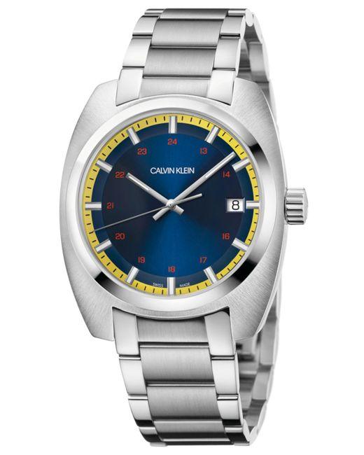 Calvin Klein - Metallic Swiss Achieve Stainless Steel Bracelet Watch 40mm X 49.75mm for Men - Lyst