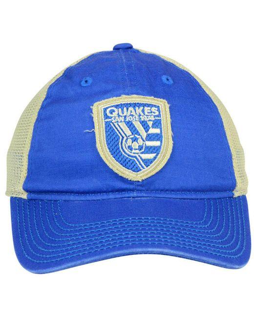 san francisco a4ab7 e8d4c ... czech adidas blue san jose earthquakes bleached trucker cap lyst c46f7  e18ff