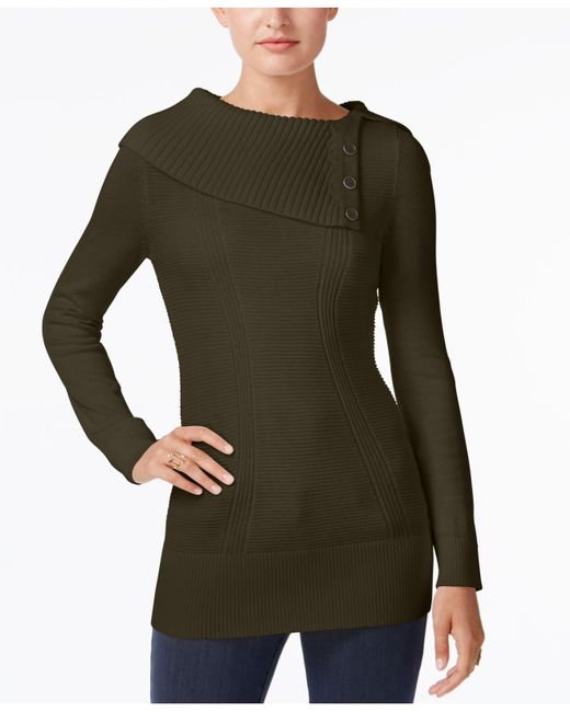 Style & Co. | Green Envelope-neck Sweater, Created For Macy's | Lyst