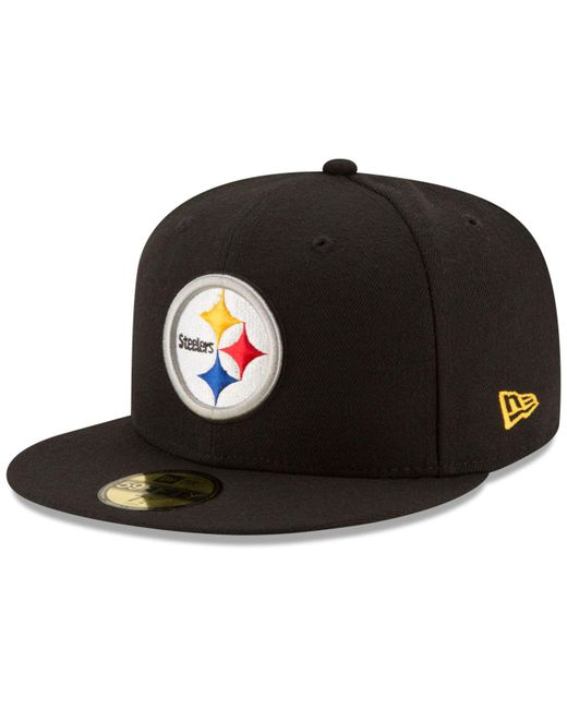 new york b2184 564b4 KTZ - Black Pittsburgh Steelers Team Basic 59fifty Cap for Men - Lyst ...