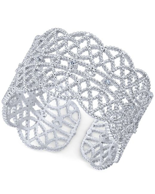 INC International Concepts - Metallic Crystal-studded Filigree Ring - Lyst