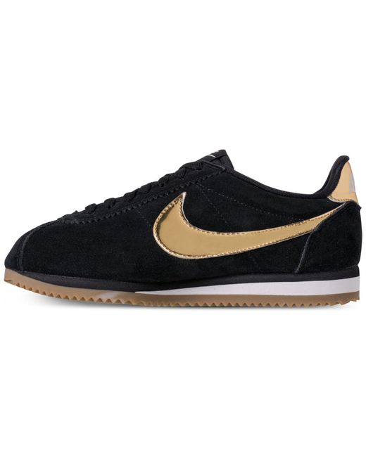 on sale e5813 3c115 ... Nike - Black Classic Cortez Se Casual Sneakers From Finish Line - Lyst  ...