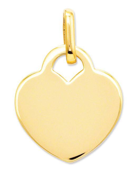 Macy's - Metallic 14k Gold Charm, Polished Heart Charm - Lyst