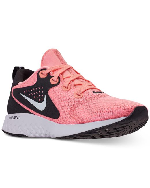 Nike - Pink Legend React Running Sneakers From Finish Line - Lyst