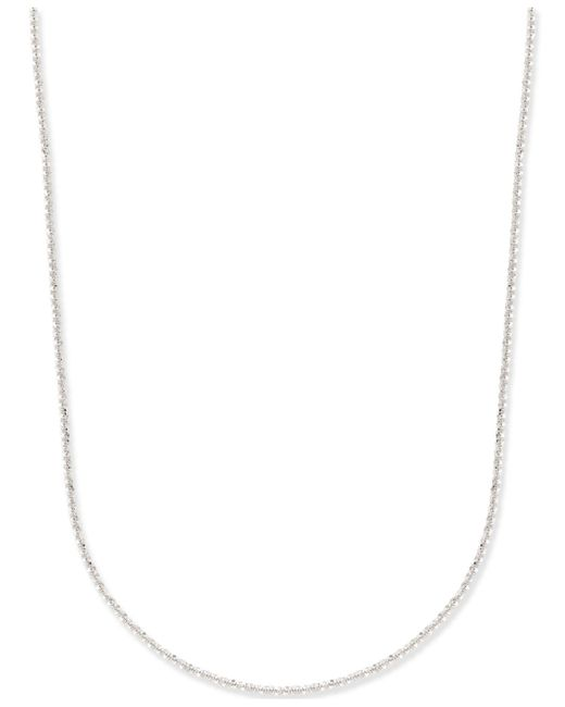Macy's | Metallic Fancy-link Chain Necklace In 14k White Gold | Lyst