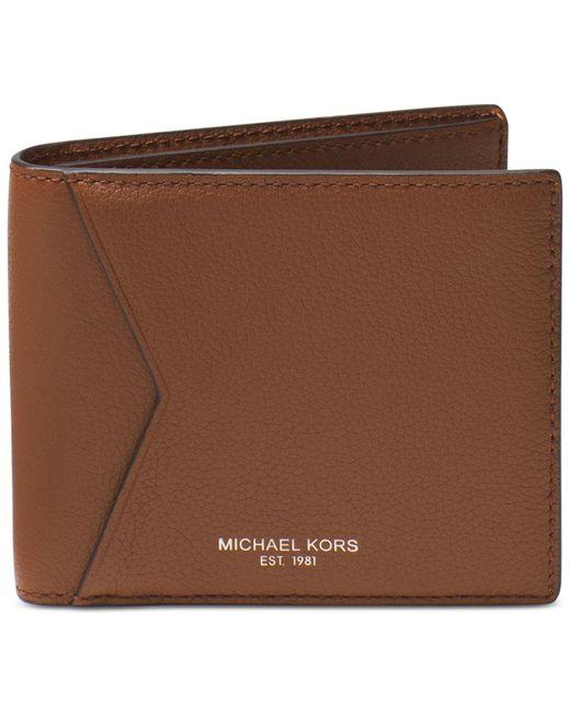Michael Kors | Brown Men's Bryant Cavallo Leather Rfid Billfold for Men | Lyst