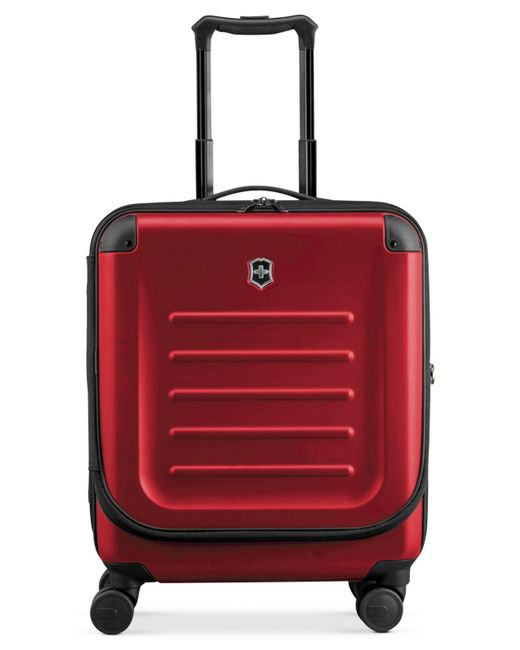 """Victorinox - Red Suitcase, 21"""" Spectra 2.0 Rolling Hardside Extra Capacity Dual Access Carry On Spinner Upright for Men - Lyst"""