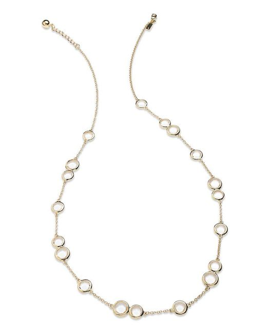 kate spade new york | Metallic Necklace, 12k Gold-plated Crystal Stone Scatter Necklace | Lyst