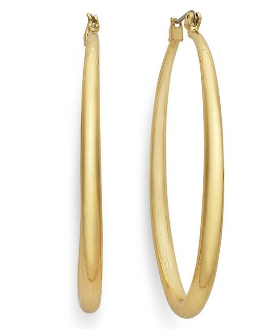 INC International Concepts | Metallic Gold-tone Small Hoop Earrings | Lyst
