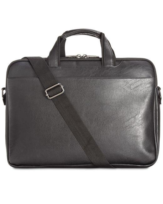Kenneth Cole Reaction - Black Slim Briefcase for Men - Lyst