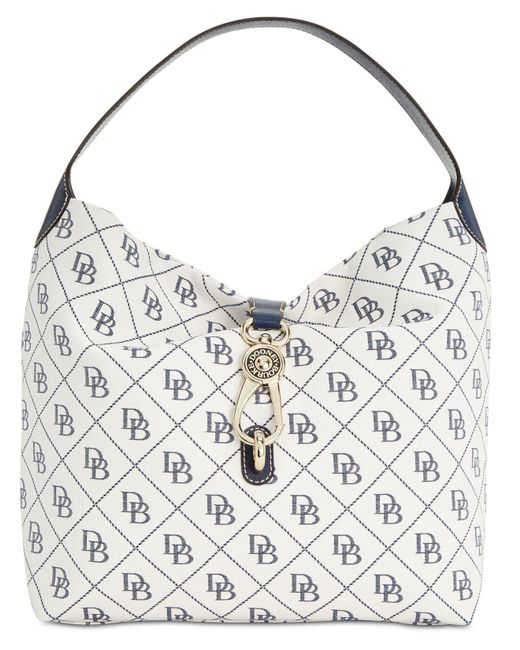 Dooney & Bourke - White Signature Quilt Logo-lock Medium Sac Handbag, Created For Macy's - Lyst