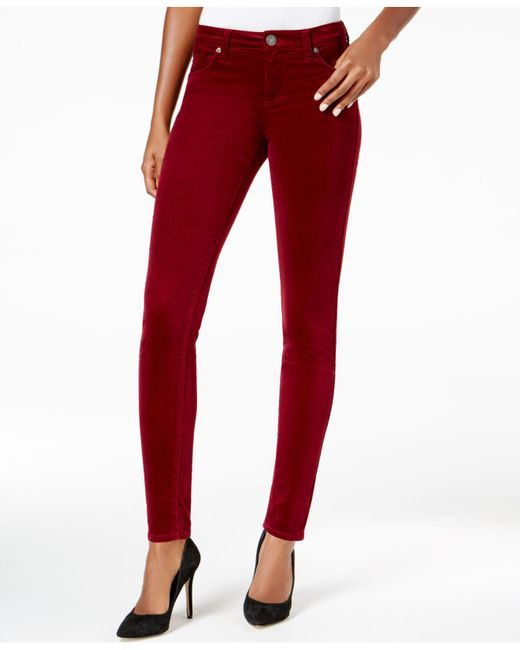 Kut From The Kloth | Red Skinny Corduroy Ankle Pants | Lyst