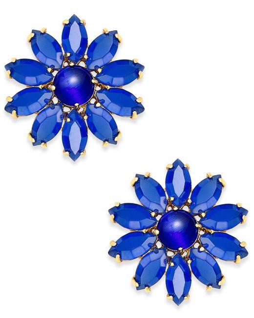 Kate Spade | Blue Flower Stud Earrings | Lyst