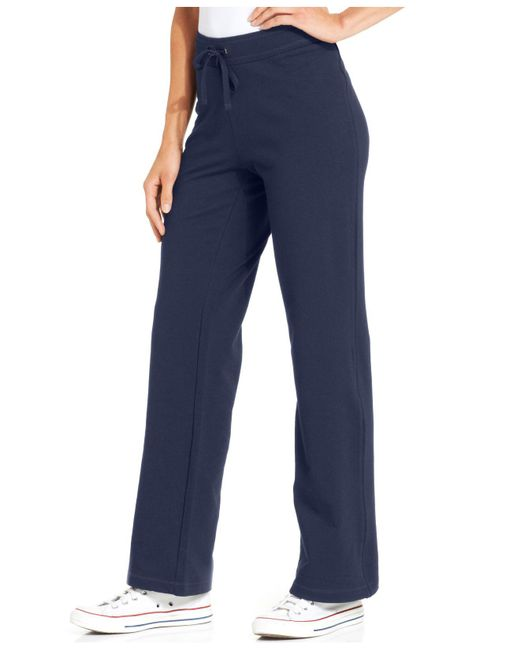 Style & Co. - Blue Petite French-terry Drawstring Pants - Lyst