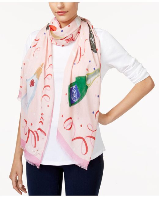 Kate Spade | Pink Fancy Party Scarf | Lyst