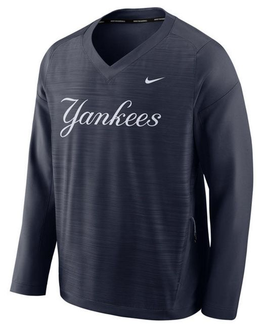 1be763c85027 Nike - Blue New York Yankees Dry Windshirt Top for Men - Lyst ...