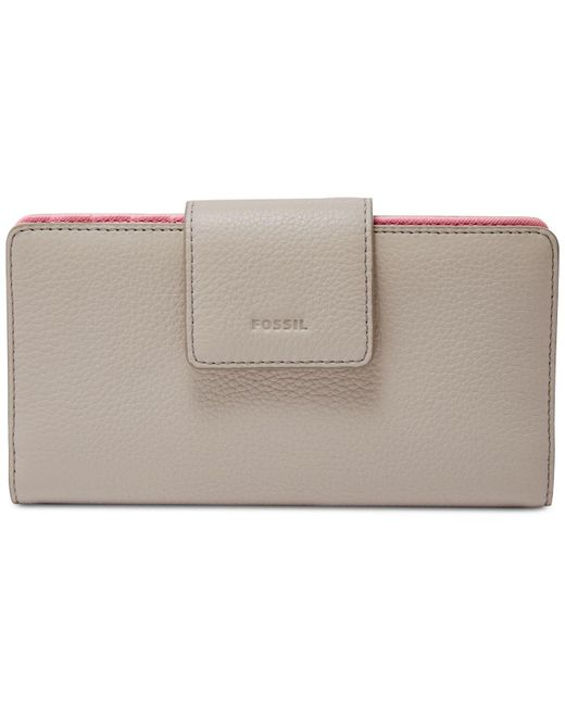 Fossil - Multicolor Emma Rfid Tab Leather Wallet - Lyst
