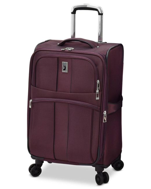 "London Fog - Purple Langley 21"" Carry-on Spinner Suitcase for Men - Lyst"