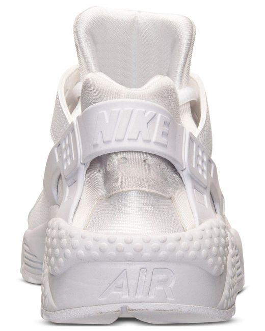 ... Nike | White Women's Air Huarache Run Running Sneakers From Finish Line  ...