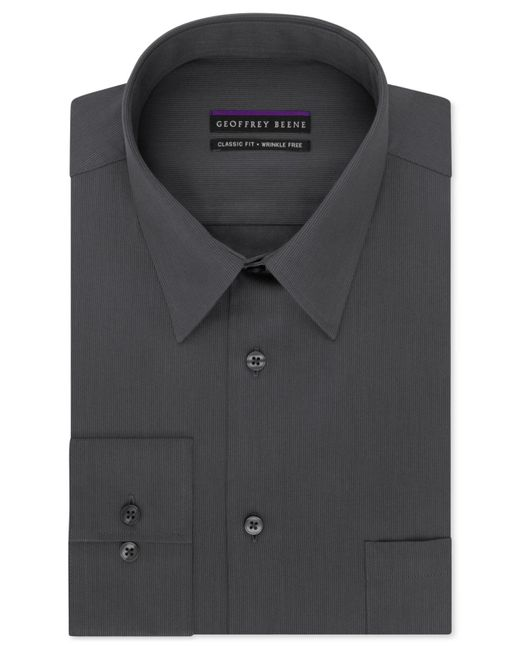 Geoffrey Beene | Black Men's Classic-fit Wrinkle Free Bedford Cord Dress Shirt for Men | Lyst