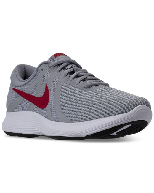 24d7a4cd Nike Gray Men's Revolution 4 Running Sneakers From Finish Line for ...