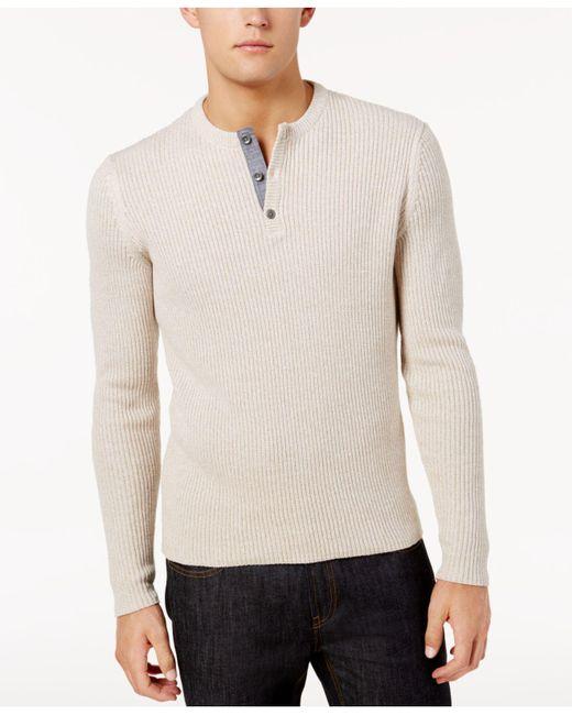 American Rag - Multicolor Men's Henley Sweater for Men - Lyst