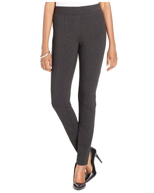 Style & Co. | Gray Petite Stretch Seam-front Ponte Leggings | Lyst