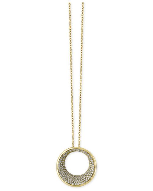 Effy Collection | Metallic Diamond Circle Pendant Necklace (1-9/10 Ct T.w.) In 14k Gold | Lyst