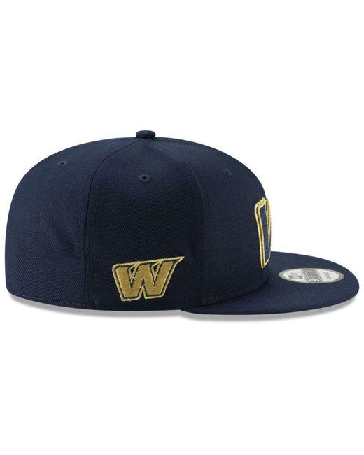 on sale 0d148 0487e inexpensive ktz blue washington wizards mishmash 9fifty snapback cap for men  lyst b3ba1 76da5