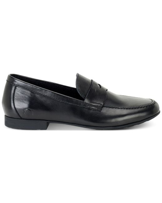 39f8d3cd8f8 Lyst - Born Men s Dave Penny Moc-toe Slip-on Loafers in Black for ...