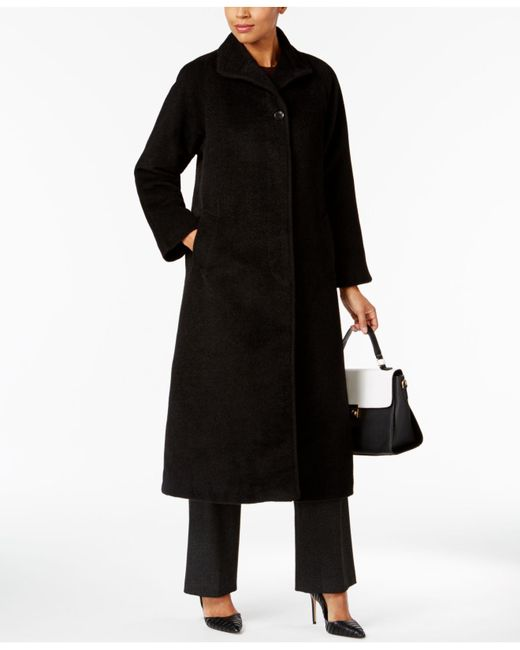Jones New York | Black Maxi Flyaway Coat | Lyst