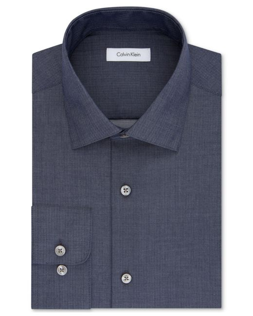 CALVIN KLEIN 205W39NYC - Blue Steel Men's Classic Fit Non-iron Performance Solid Dress Shirt for Men - Lyst