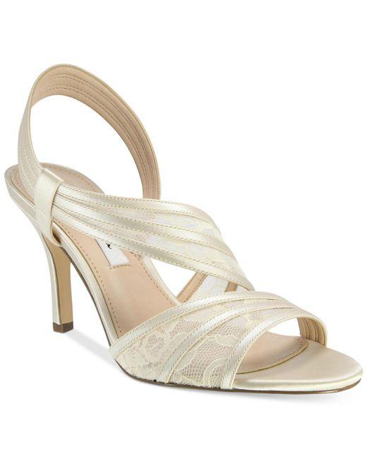 Nina - White Vitalia Asymmetrical Sandals - Lyst