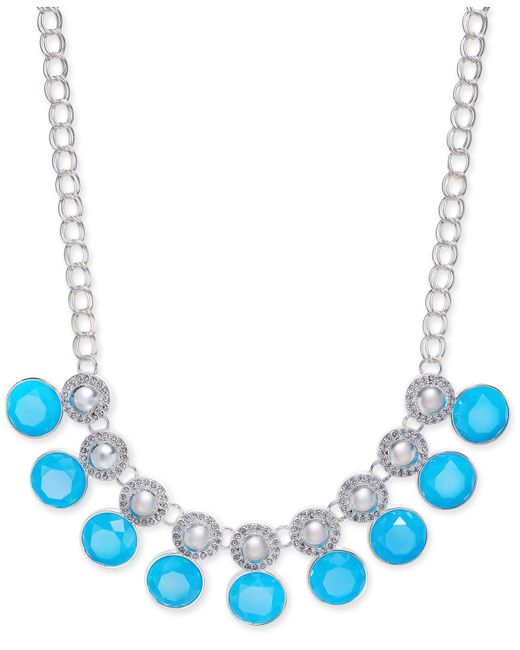 Charter Club - Blue Multi-stone Large Link Collar Necklace - Lyst