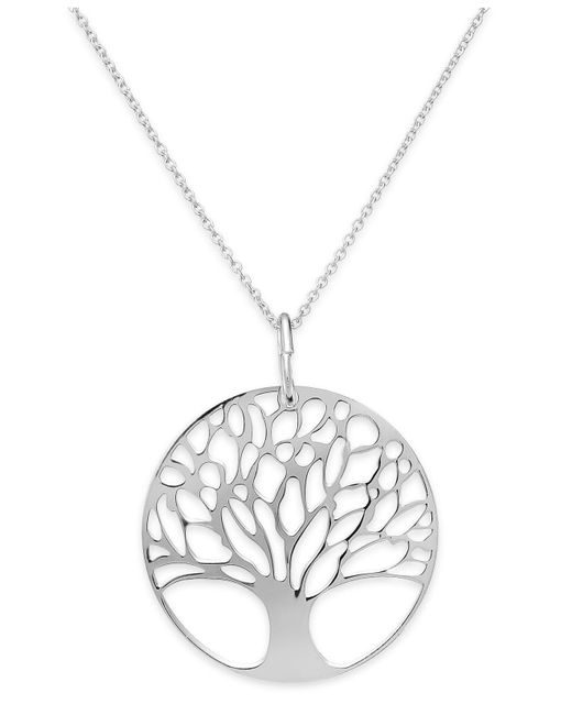 Giani Bernini - Metallic 24k Gold Over Sterling Silver Tree Of Life Pendant Necklace - Lyst