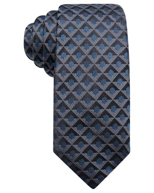 Alfani - Blue Men's Geometric Silk Slim Tie for Men - Lyst