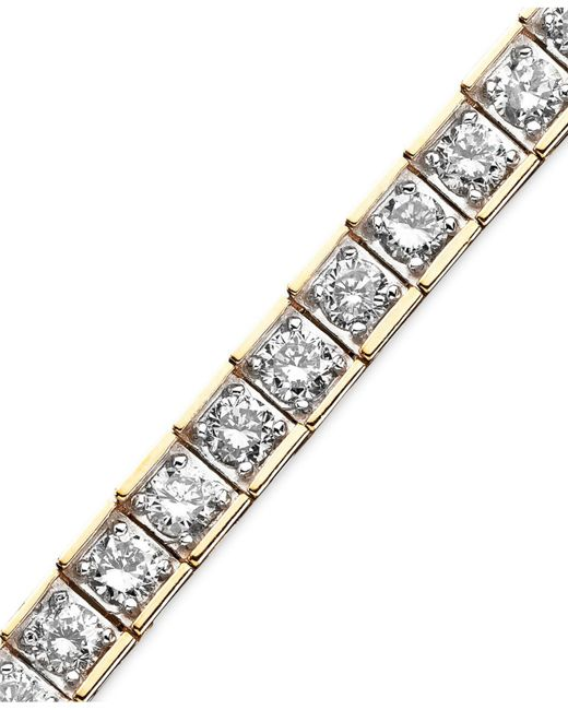 Macy's - Metallic Diamond Bracelet (6 Ct. T.w.) In 10k Yellow Gold - Lyst