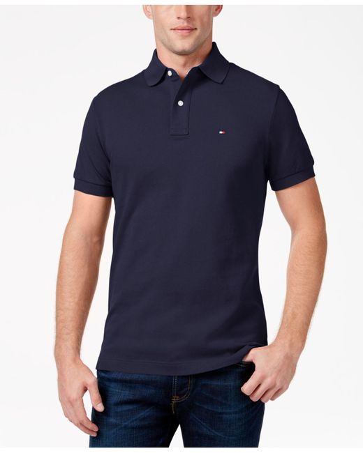 Tommy Hilfiger - Blue Custom-fit Ivy Polo for Men - Lyst